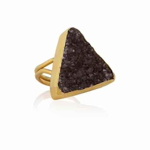 Elpis | Triangle amethyst ring | SAMPLE SALE from Ana Dyla