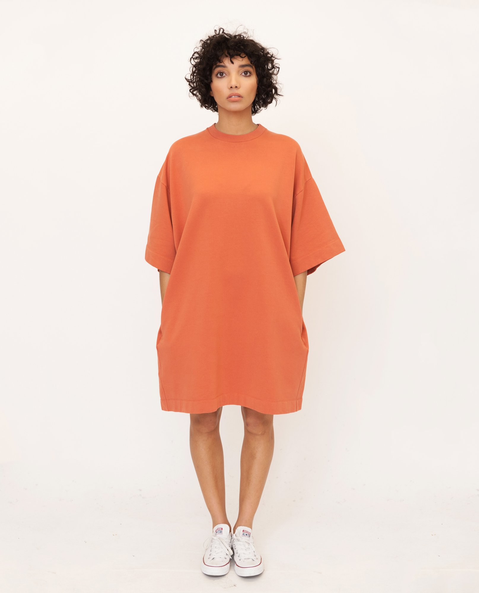 FRANCIS Organic Cotton Dress In Madder from Beaumont Organic