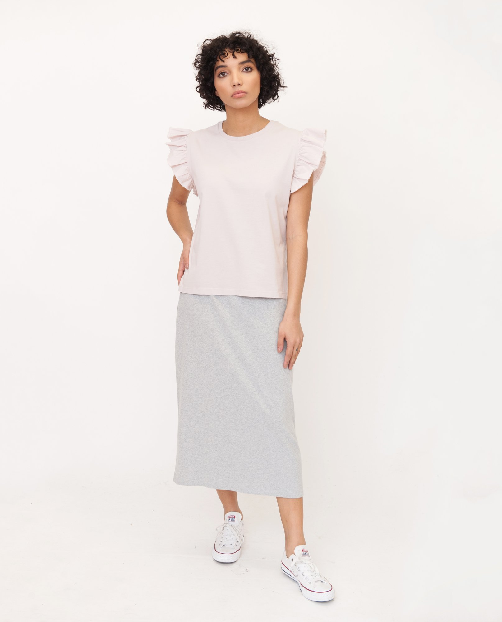 ZOOEY Organic Cotton Top In Pink from Beaumont Organic