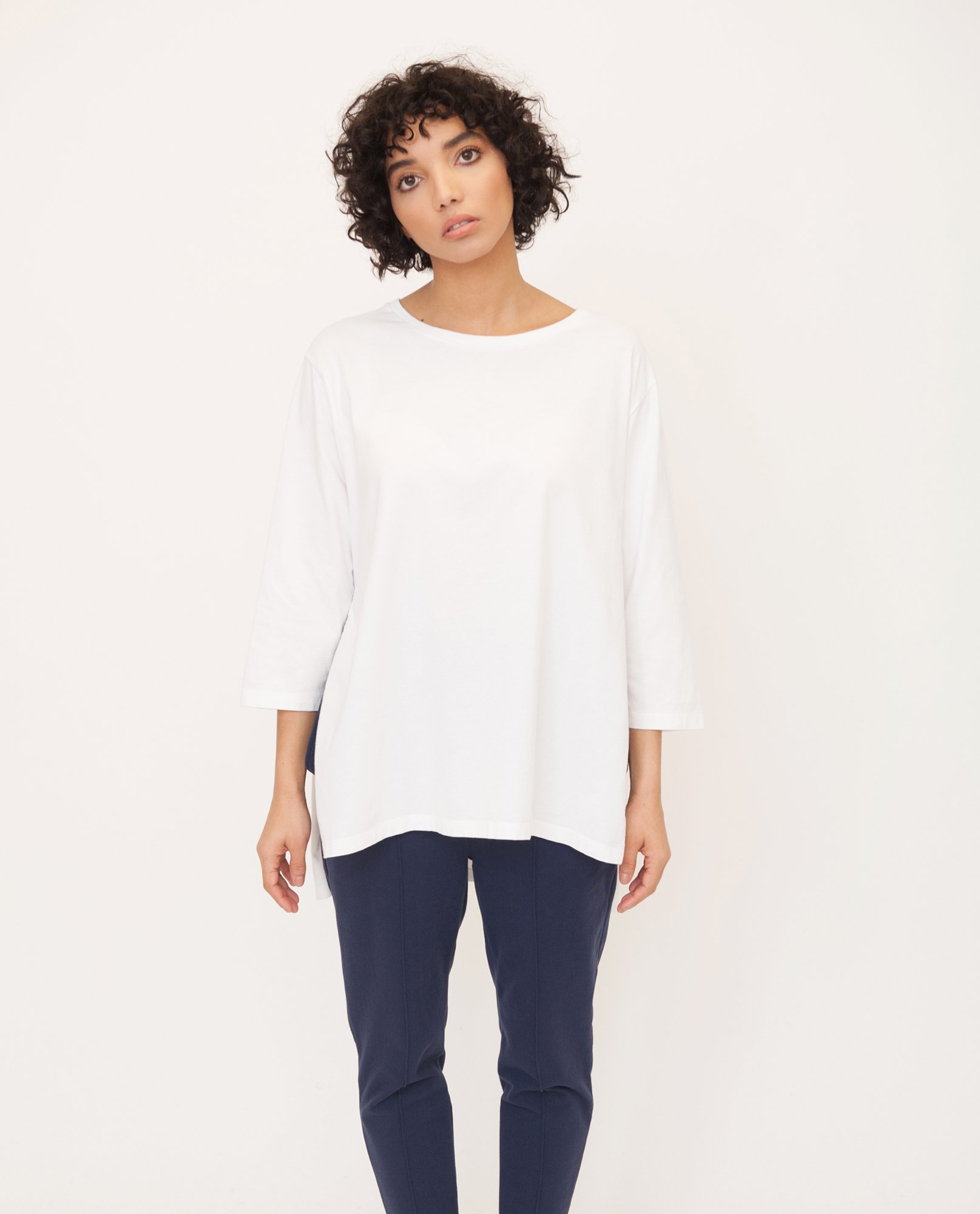 HATTIE Organic Cotton Top In Off White from Beaumont Organic