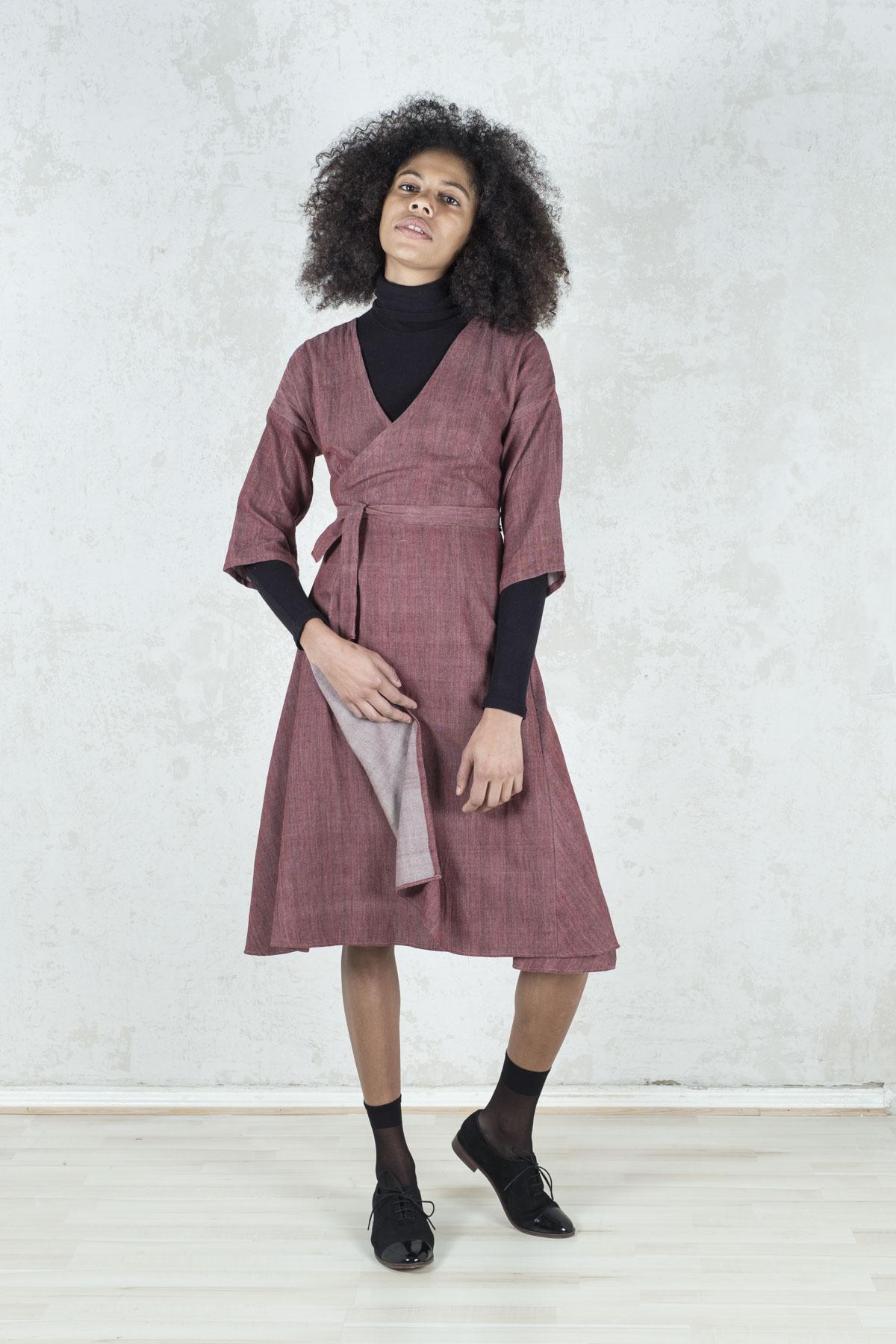 Kleid Kala Brombeer from Jyoti - Fair Works