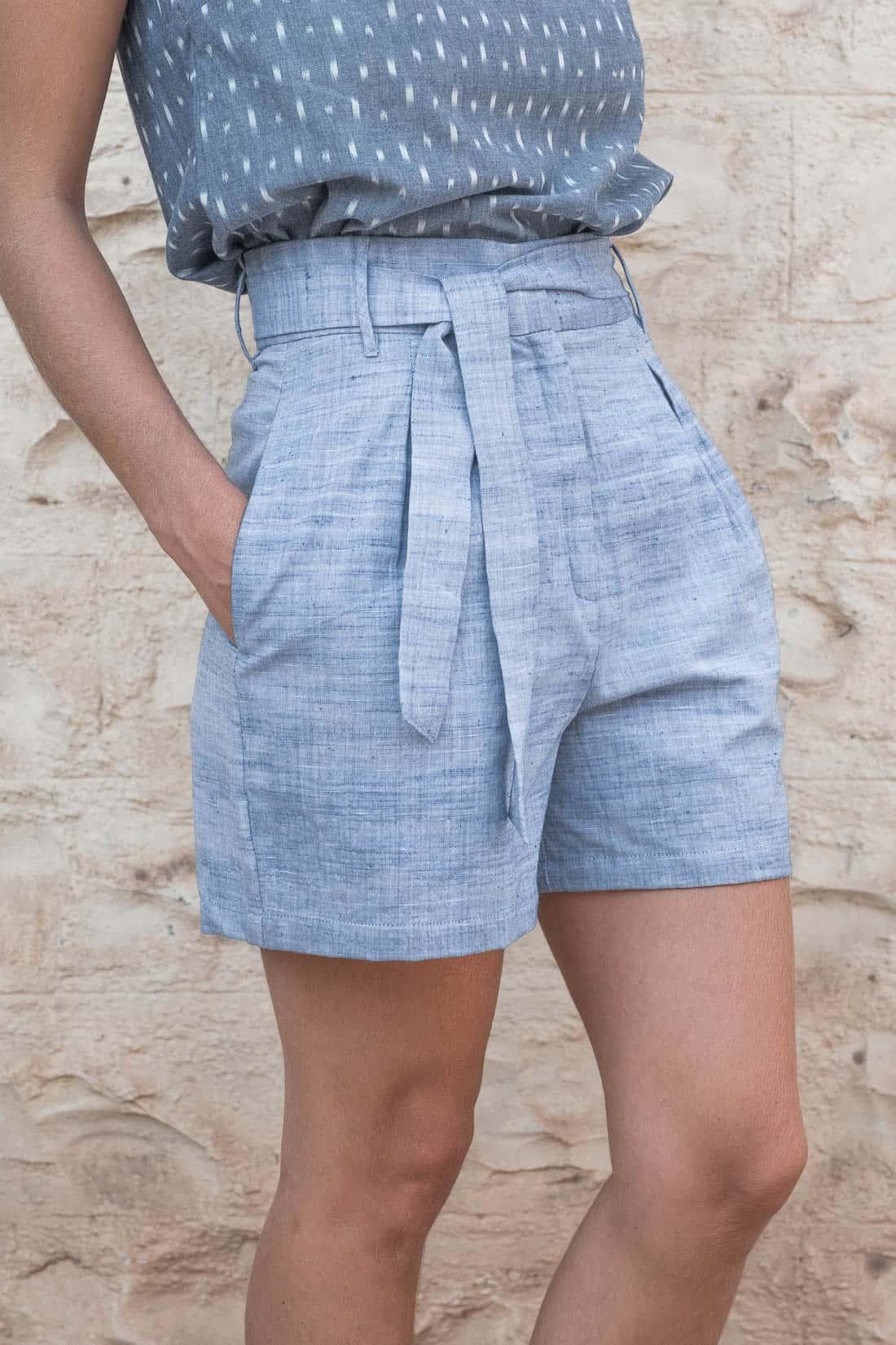 Shorts Smita Hellblau from Jyoti - Fair Works