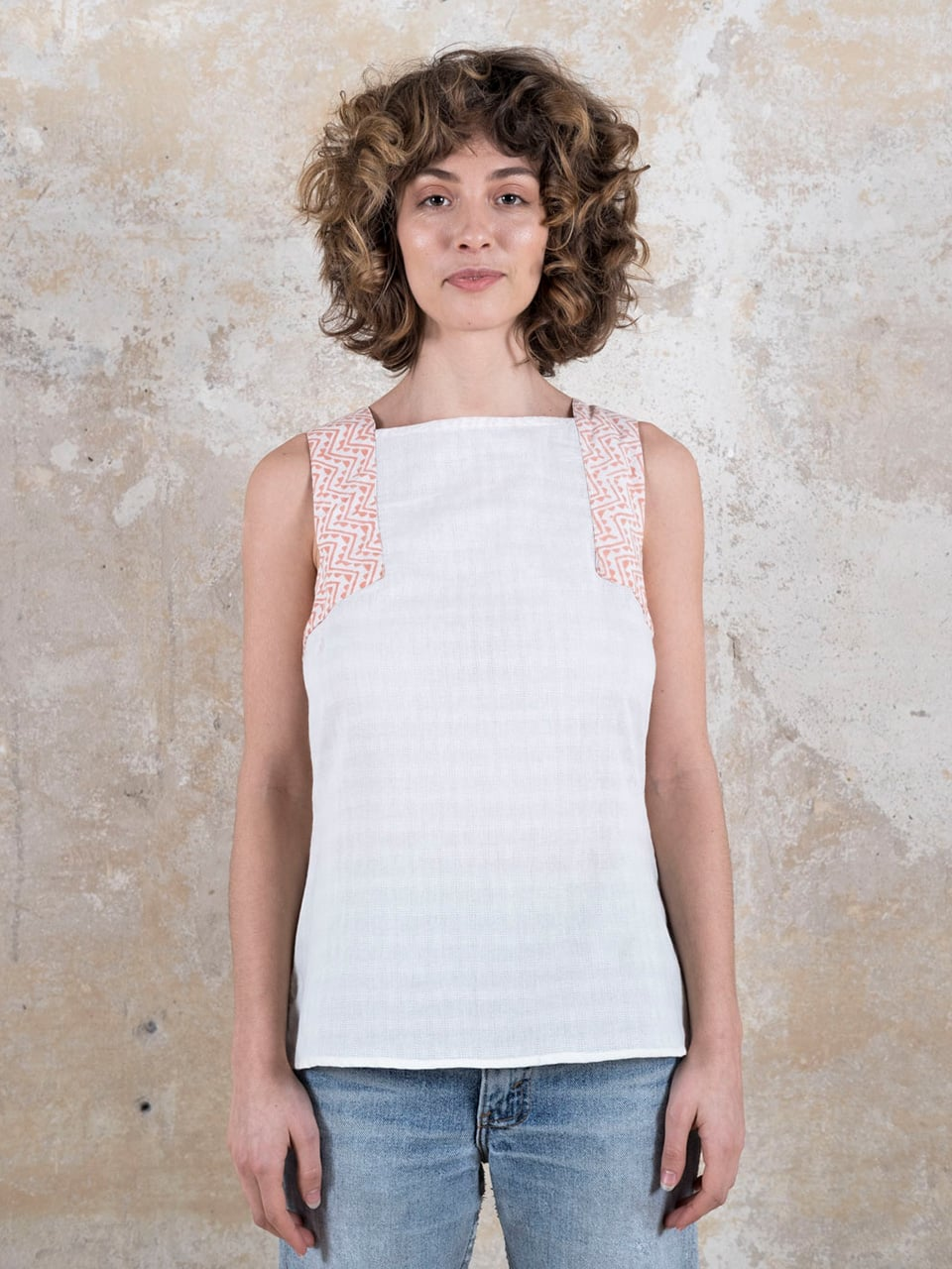 Top Tejal Cremeweiss from Jyoti - Fair Works