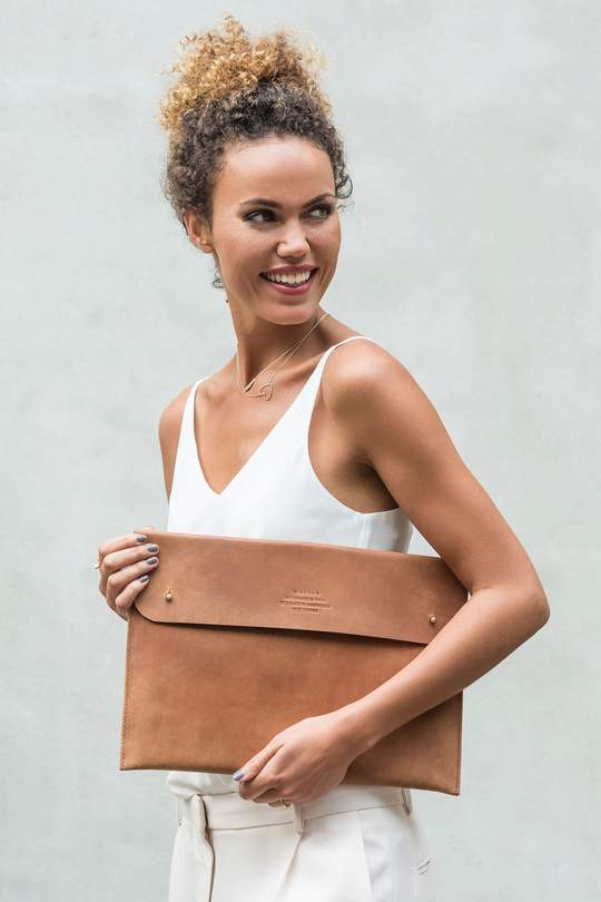 """13"""" laptop sleeve - eco camel from The Green Labels"""
