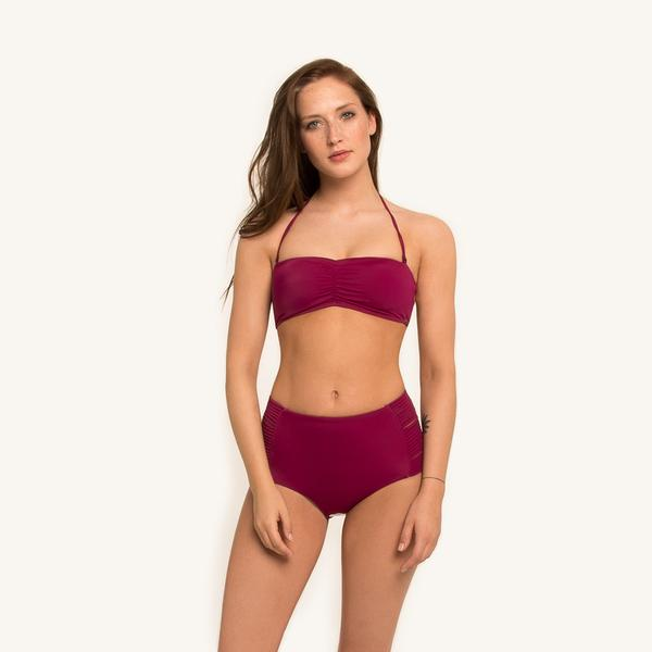 Dylan Bandeau Top Berry from Woodlike Ocean